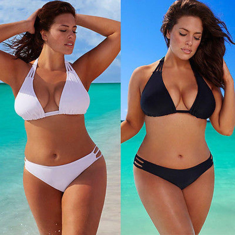 Bikini Set Plus Size Women Low Waist Push Up Big Large Swimsuit Swimwear 3XL 4X