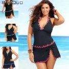 Dress Halter Swimsuit Size Plus Swim Women Bathing Swimwear Tankini Suit Push Up