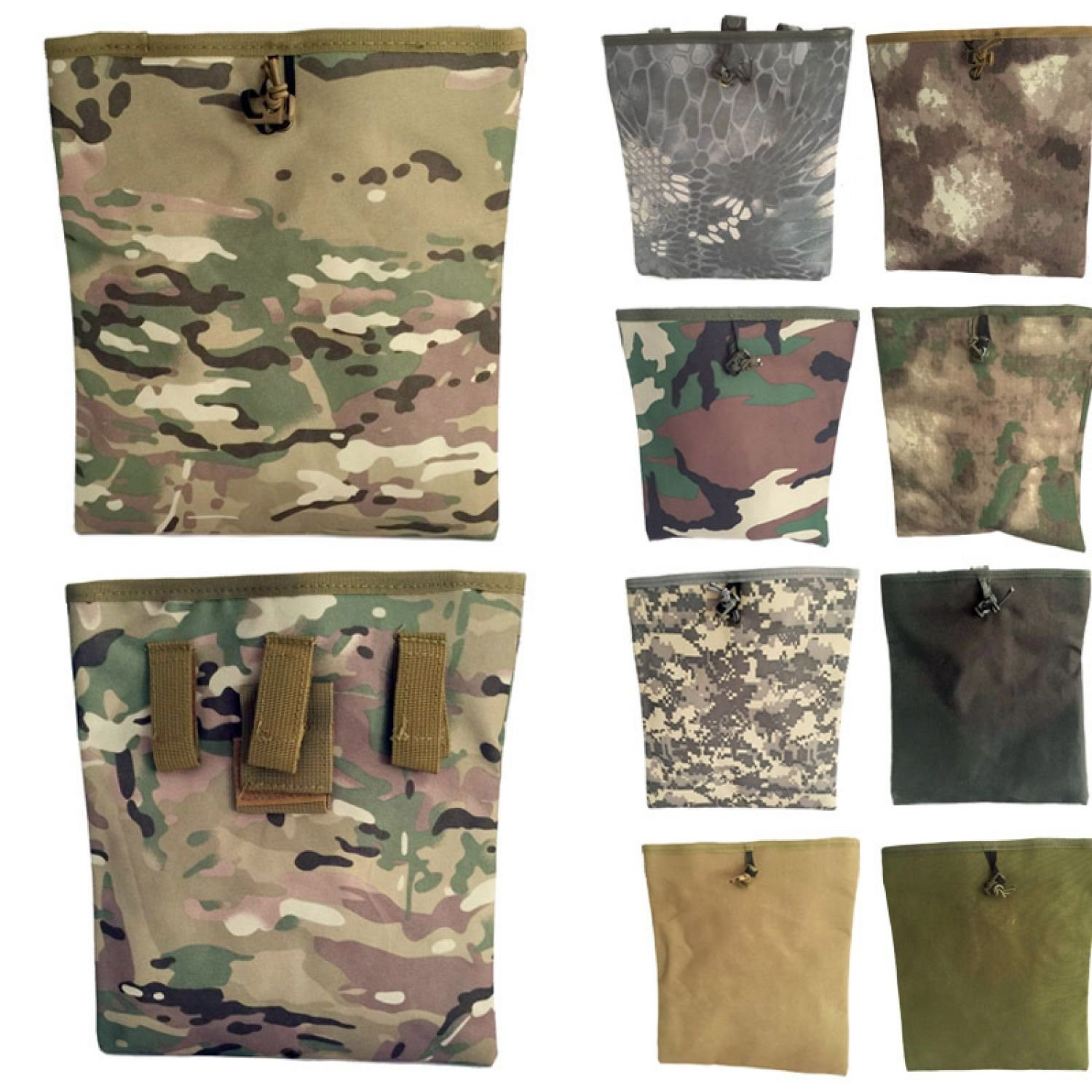 Pouch Dump Military Molle Tactical Foldable Mag Bag Roll Up Airsoft Paintball