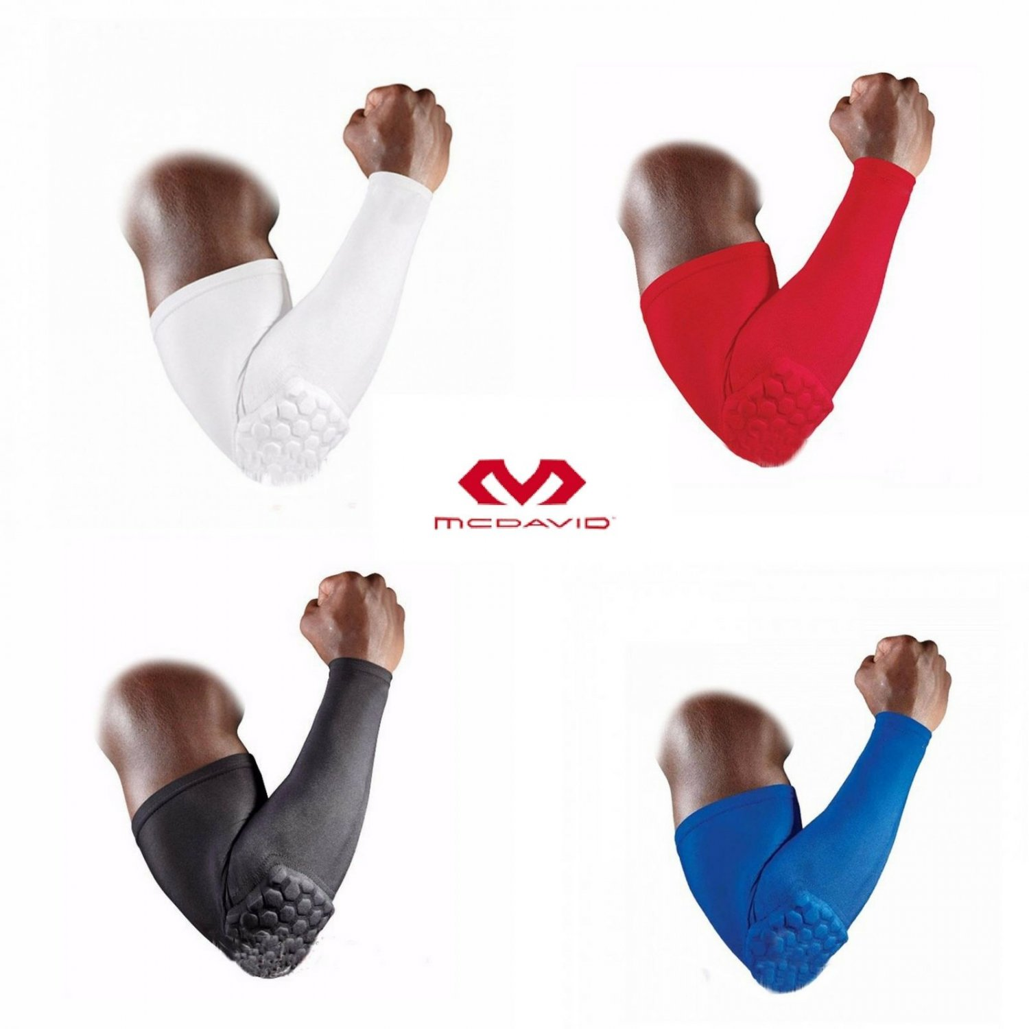 Mcdavid Honeycomb Elbow Protector Basketball Arm Support Sleeve Warmer Pad Hex
