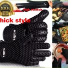 Silicone Kitchen Glove Resistant Heat Bbq Oven Grill Cooking Gloves Mitts Holder