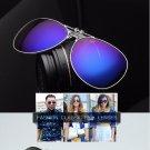 Polarized Clip On Sunglasses Night Vision Driving Eyeglasses Mirror Sun Glasses