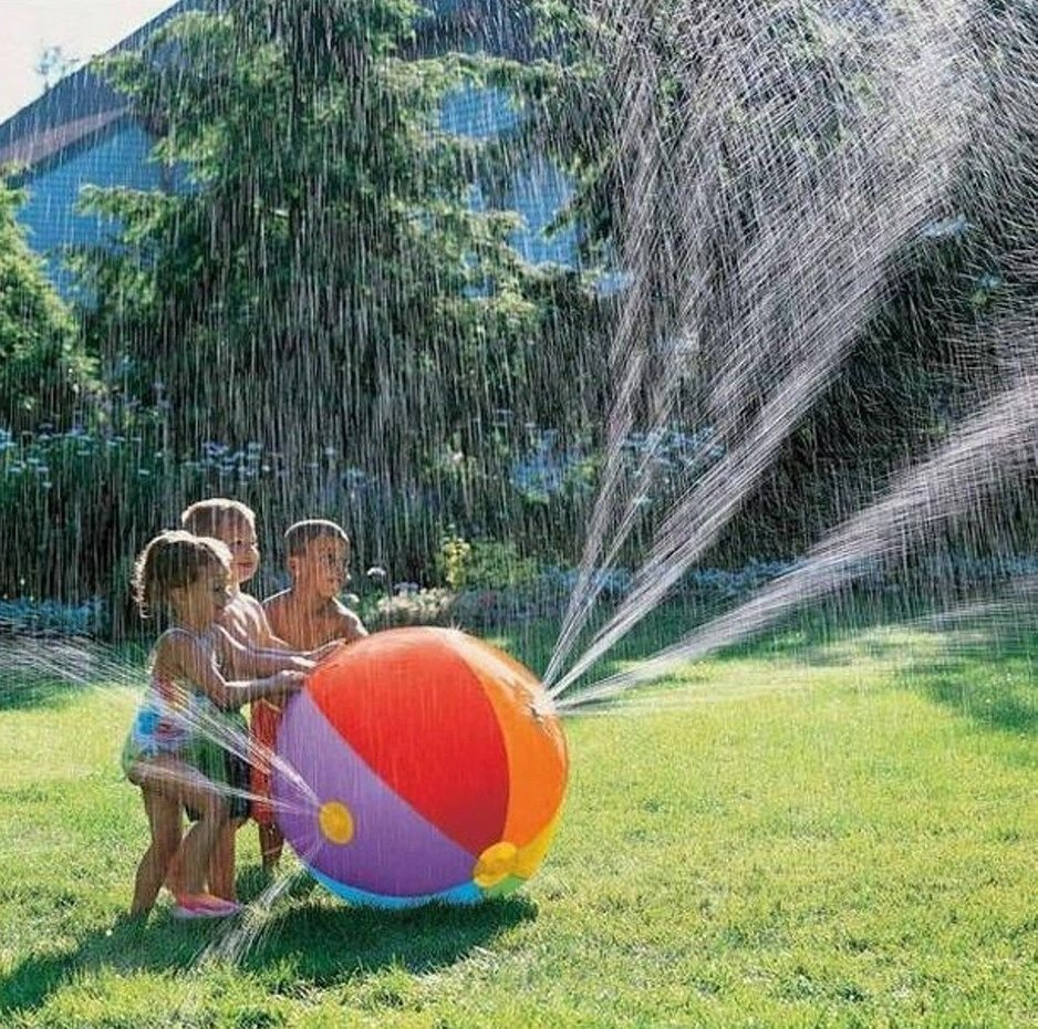 Spray Water Ball Summer Outdoor Children Play Inflatable Kid Swimming Beach Pool