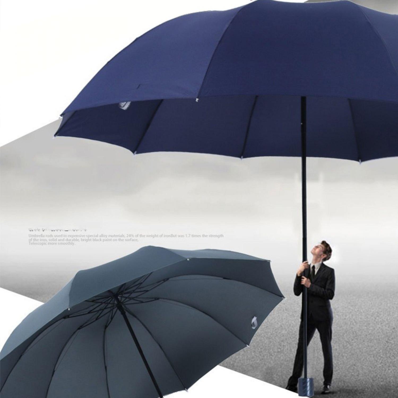Top Quality Big Umbrella Men Woman Rain Windproof Large Business Traveling Huge