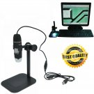 Microscope 8 LED Digital Camera 5MP USB Endoscope Magnifier BlackStand 500X Zoom