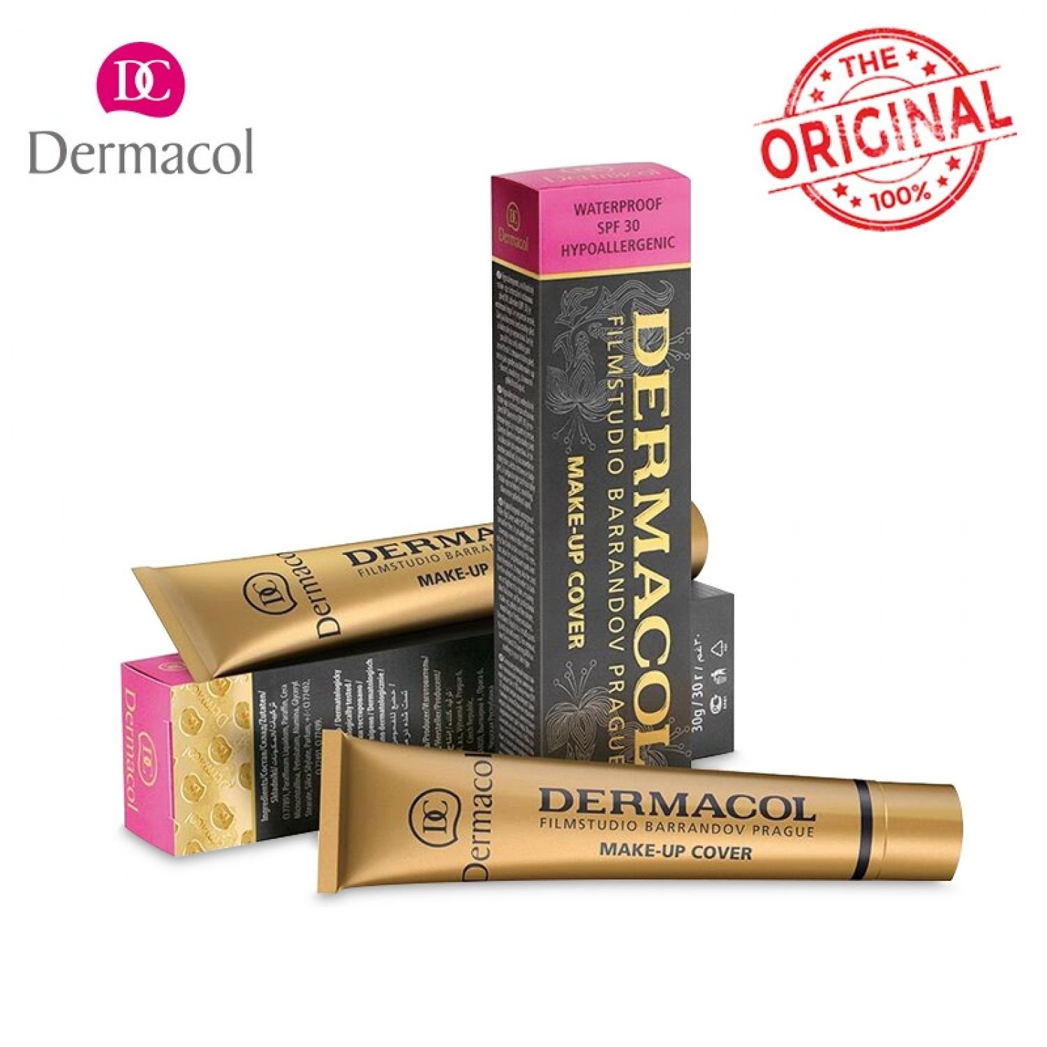 Original Dermacol Make Up 100% Base Cover Concealer Cream Tatoo Face Control