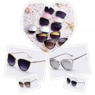 Cat Eye Mirrored Fashion Sunglasses Women Metal Frame Famous Designer Retro Pink