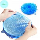 Silicone Lids Stretch Cover Food Stretchable 6 Pack Set Different Sizes Storage