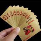 Golden Playing Cards Deck Foil Poker Set Magic 24K Gold Plastic Game Waterproof