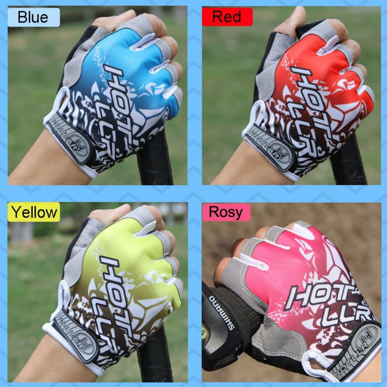 Cycling Gloves Bike Half Finger Bicycle Gel Padded Fingerless Sports Shockproof
