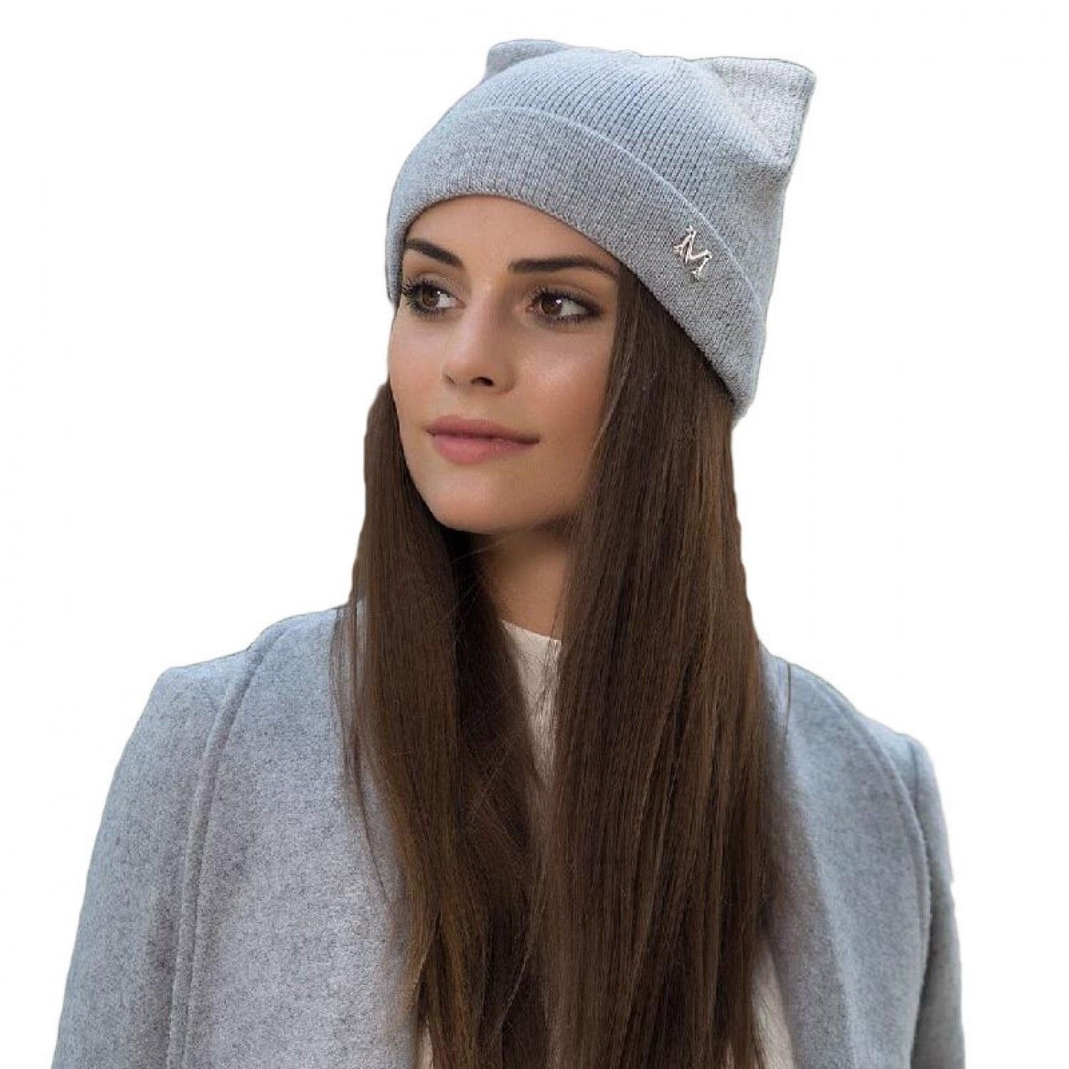 a3a880293 Winter Women Hats Cat Ears And Letter Design Knitted Wool With Cute Beanies  Caps