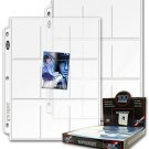BCW 9 Pocket trading card Protective Pages (Qty = 25 Pages)
