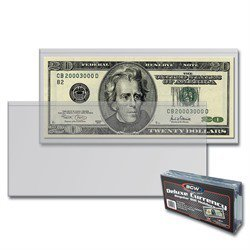 BCW Semi-Rigid Modern Size Currency Holders