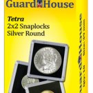 "2"" x 2"" Silver Round Clear Snap Together Coin Display Slabs (QTY = 10 Slabs)"