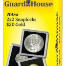 "2""x2"" 20 Dollar Gold Tetra Snaplock Coin Holder - 10 per pack"
