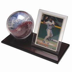Black Acrylic Base Baseball & Card Holder