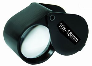 (10x18mm) Black Plated Jeweler�s Loupe
