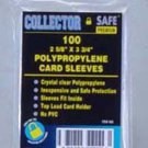 Collector Safe Soft Card Sleeve (Qty = 5 packs of 100 sleeves)