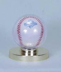 Collector Safe Baseball Holder w/Gold Base