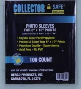 """Photo Sleeves For 8"""" X 10"""" Photos"""