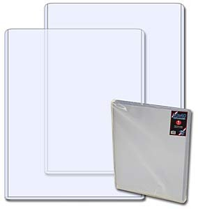 """22"""" x 28"""" Clear Rigid Toploaders (Case of 25)"""