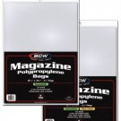 Thick Magazine Bags With Resealable Tape