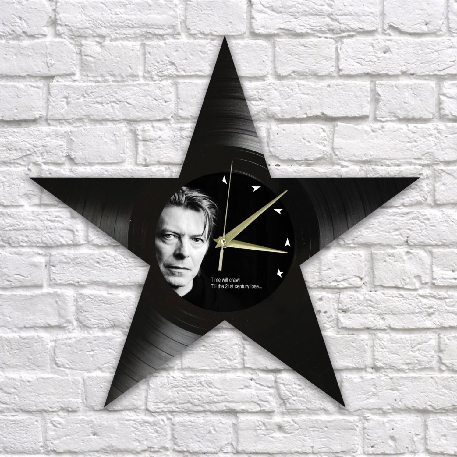 David Bowie wall clock