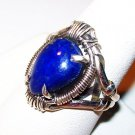 Blue Lapis Lazuli Ring 925 Sterling Silver Tear Drop Size 8.75 New