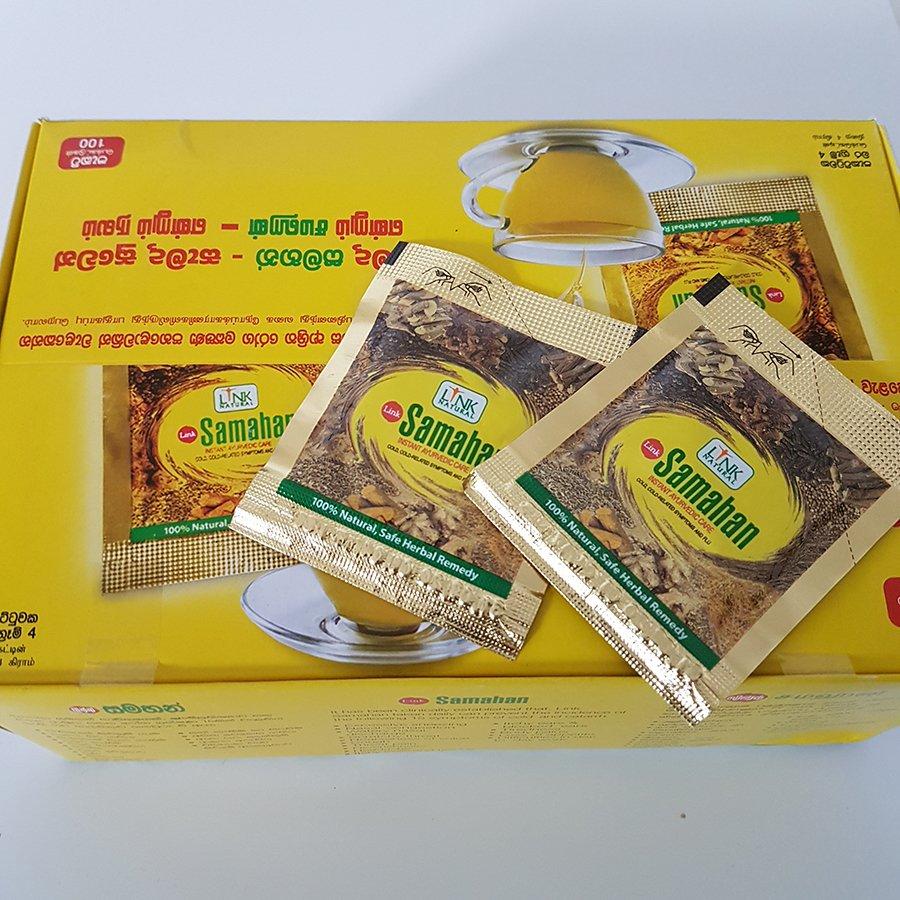 100 SAMAHAN Sachets  Ayurvedic Ceylon Herbal Tea