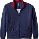 Vintage by Majestic International Men's Track Lined Jacket 6XL in Navy Blue and Maroon