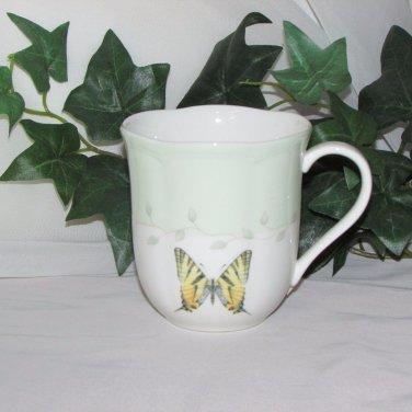 LENOX BUTTERFLY MEADOW COFFEE MUG Pale Green Fine Bone China Replacement