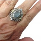 Barbara Bixby, Sterling Silver, 18k Yellow Gold, Blue Topaz,  Shangri La Ring