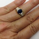 LeVian, 14k gold, genuine Diamond, blue sapphire, designer, fashion ring
