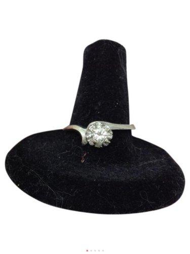 0.38ctw, Vintage, 14k white gold, genuine diamond engagment, anniversary ring