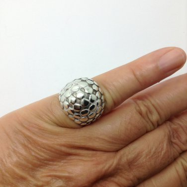 John Hardy Sterling Silver Pebble Dot Sterling Silver Ring