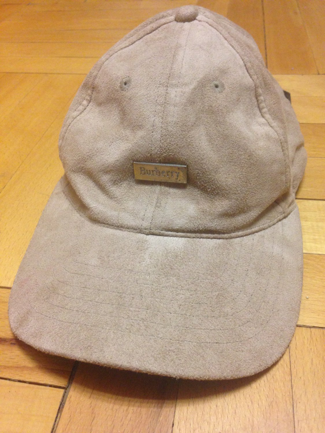 Burberry vintage suede baseball cap One size
