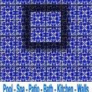 MEDITERRANEAN BLUE DESIGN ACCENT TILE 4in X 4in, in Antique Looking Ceramic Tiles
