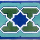 BOUZID DESIGN ACCENT BORDER TILE, 8in X 4in, in Antique Looking Ceramic Border Tile