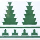 TOPIARY GREEN DESIGN ACCENT BORDER TILE, 8in X 4in, in Antique Looking Ceramic Border Tile