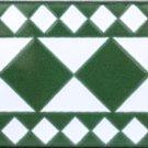 SHOULIGA DESIGN ACCENT BORDER TILE, 8in x 4in, in Antique Looking Ceramic Border Tile