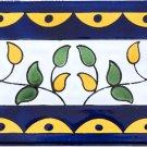 KALTHOUM DESIGN ACCENT BORDER TILE, 8in x 4in, in Antique Looking Ceramic Border Tile