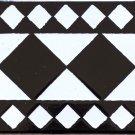 HAMMA DESIGN ACCENT BORDER TILE, 8in x 4in, in Antique Looking Ceramic Border Tile