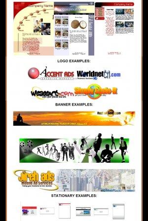 WEBSITE, LOGO, BANNER, STATIONARY DESIGN 4 FOR 1 SALE