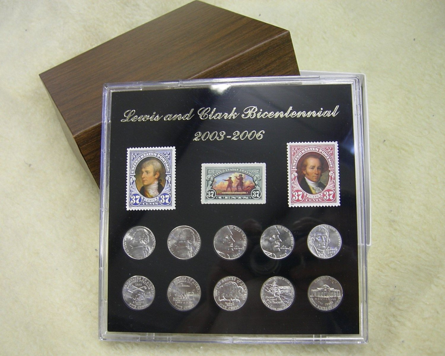 Lewis and Clark Limited Edition Bicentennial Coin and Stamp Collectors Gift Pack