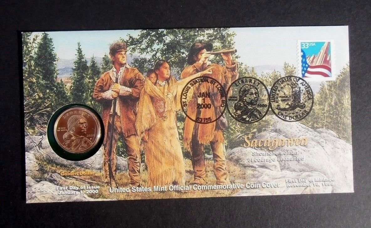 LEWIS & CLARK 2000 P  Sacagawea Golden Dollar SEALED SET w/ FDC from US MINT