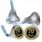 70th Birthday or Anniversary Hershey Kisses Kiss Labels Stickers for Party Favor