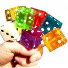 6 Dice Shaped Square Lollipops Las Vegas Casino Gambling Themed Party Favors