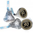 40th Birthday Party Supplies Hershey Kisses Kiss Labels Stickers for Party Favor