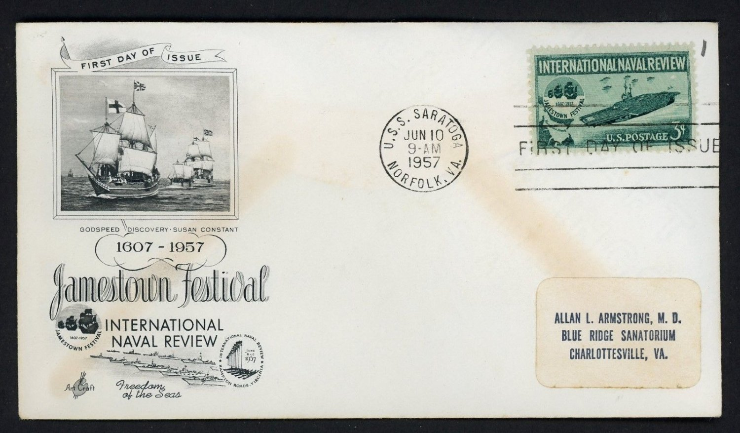 US #1091 ARTCRAFT FDC International Naval Review