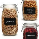 Wedding Gifts Clear Glass Canisters Storage Jars Chalk it Up Chalkboard 3pc